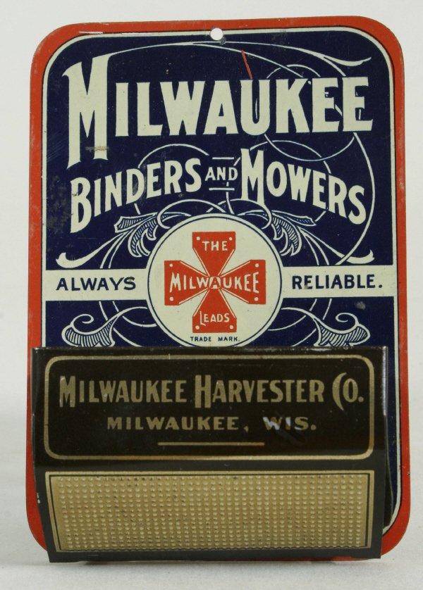 2012: Milwaukee Binders & Mowers Match Box