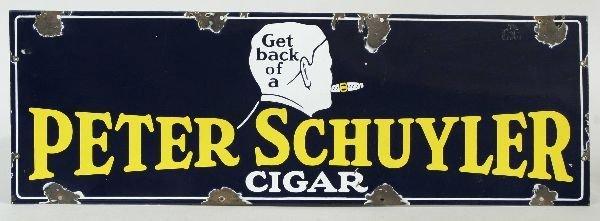 2013: Porcelain Peter Schulyer Cigar Sign