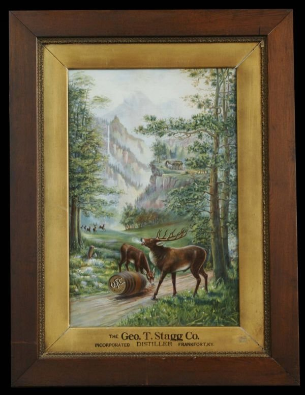 2126: O.F.C. Whiskey Advertising Sign