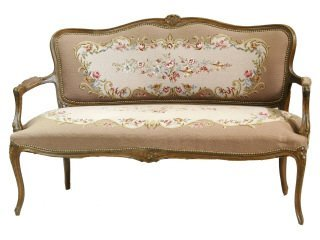 2: French Needlepoint Settee