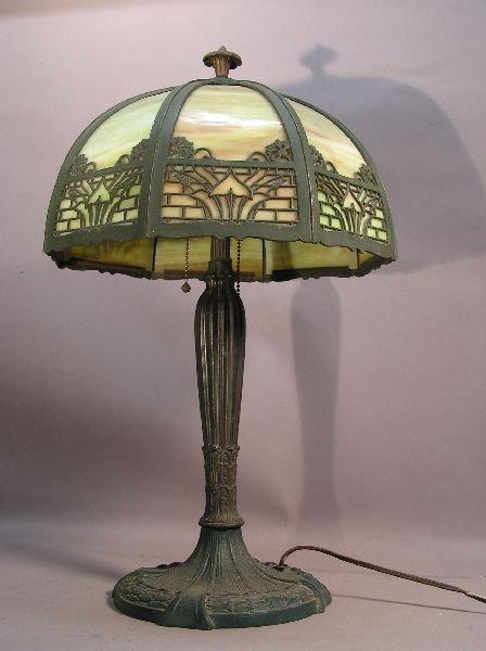 9: Royal Slag Glass Lamp