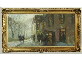 61: Artist Signed Impressionist Oil on Canvas