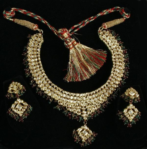 77: Royalty Necklace and Earring Set 22K Gold