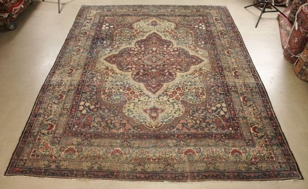 1019: Persian Kerman Lavar Rug