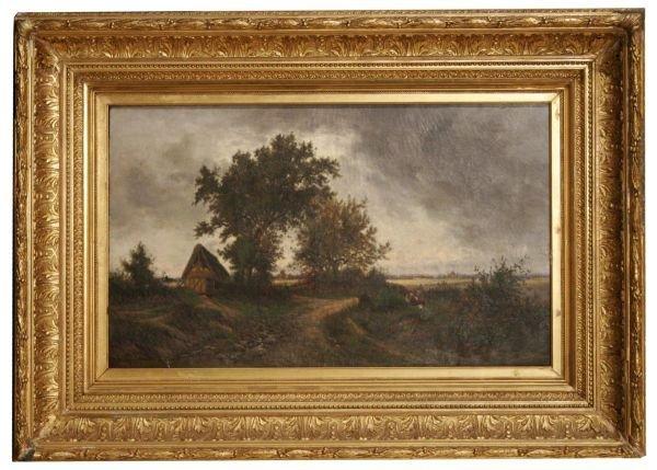 1070: Oil on Canvas Signed Gittard