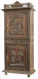 BRITTANY CARVED CUPBOARD