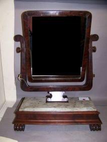1013: Gentleman's Mahogany Dressing Mirror