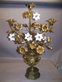 1017: Bronze Floral Centerpiece