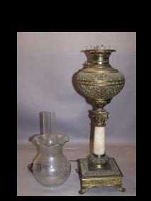 1021: Banquet Lamp Signed Miller