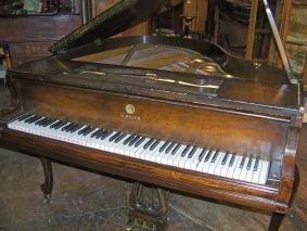 1024: SCHILLER BABY GRAND WALNUT PIANO