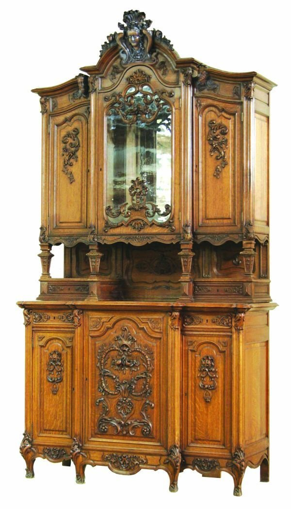 1072: Liege French Carved Cabinet