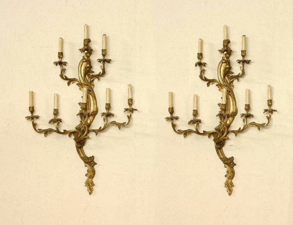 6: Pair of Bronze Electric Sconces  204