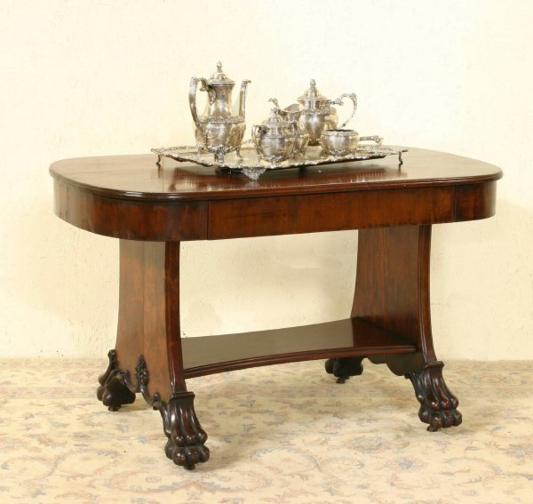 13: Claw Foot Mahogany Table  692-17