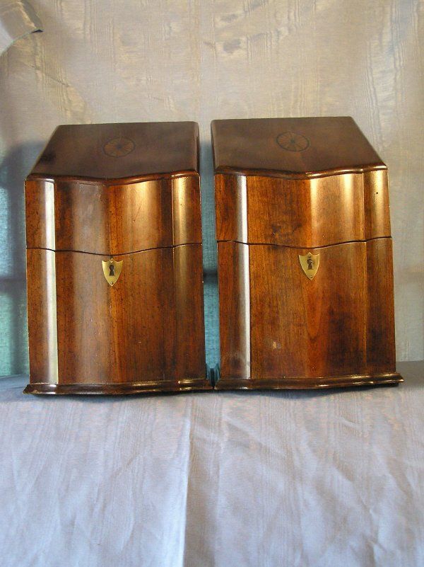14: Pair of Cutlery Boxes with Inlaid Detail   803-2