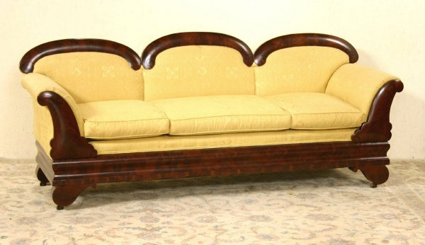 15: Empire Sofa with Yellow Upholstery