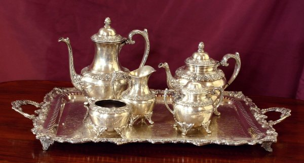19: Six Piece Silverplate Tea Set  803-8