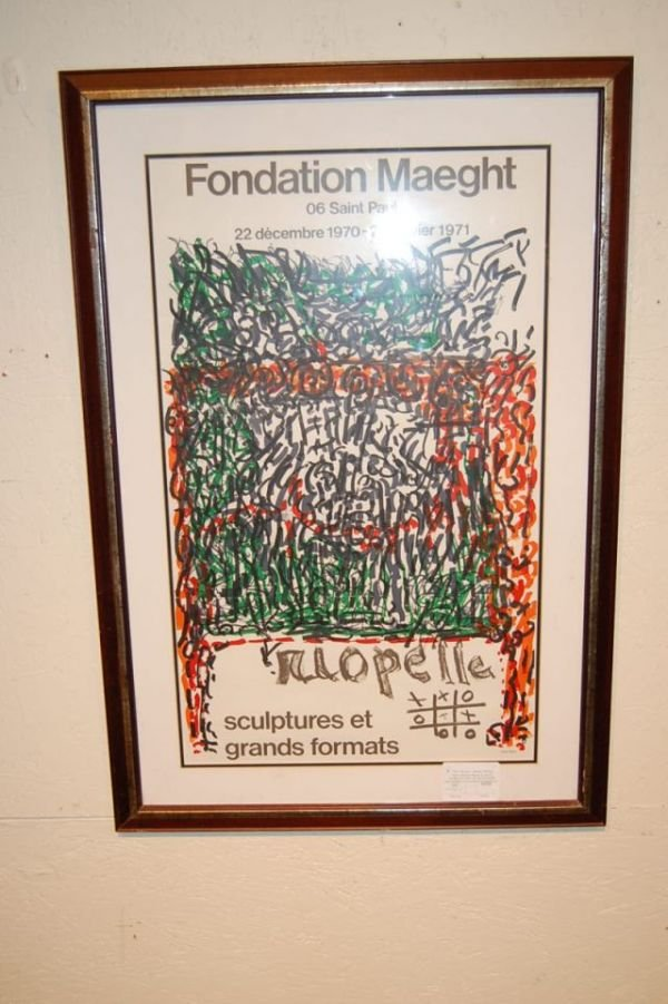 2: Stone Lithograph Poster Dated 1971