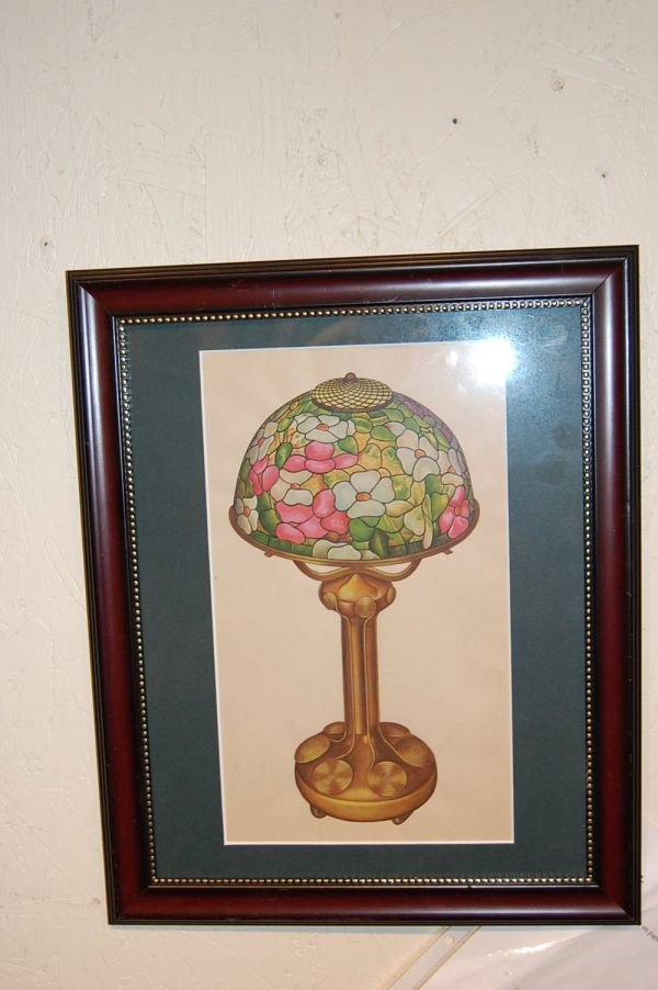 12: Water color / Gouache of Prototype Tiffany Lamp
