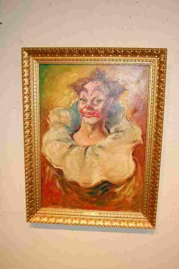 Maria Rosati - Vintage Clown / Oil on Canvas