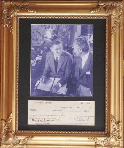 2002: PICTURE OF DAVID O. SELZNICK W/ATTACHED AUTOGRAPH