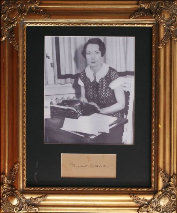2004: MARGARET MITCHELL PICTURE W/ CUT AUTOGRAPH