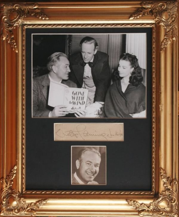 2010: VICTOR FLEMING PICTURE WITH CUT AUTOGRAPH
