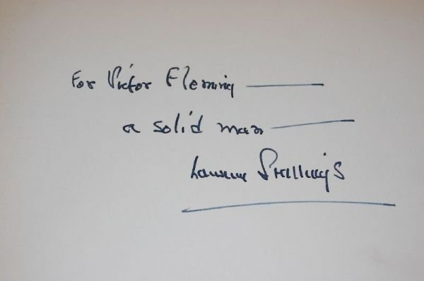 2015: VICTOR FLEMINGS AUTHOR SIGNED BOOK