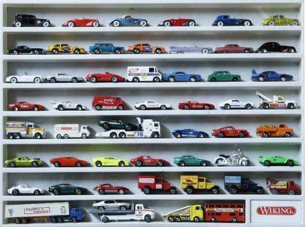 3001  DISPLAY LOADED W/ 53 MOSTLY MATCHBOX DIECAST