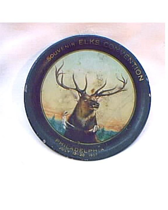 3012: Antique Tip Tray Elks Convention 1907