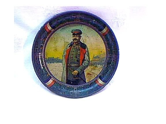 3016: Rare German Tip Tray With Soldier