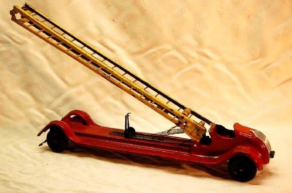 3060: Keystone Fire Ladder Truck Wind-up Toy