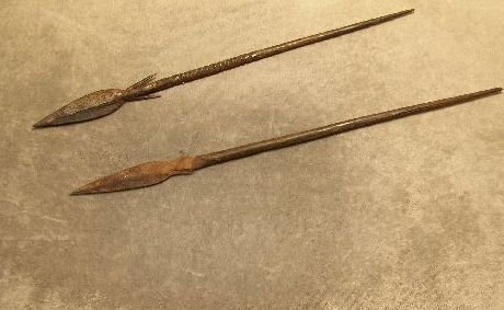 1004: 4 SPEAR POINTS FROM GOLD COAST AFRICA