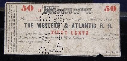 1005: WESTERN & ATLANTIC RAILROAD ONE DOLLAR NOTE - 3