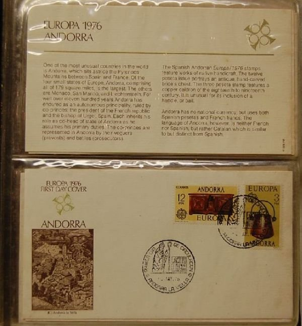 1007: BOOK OF EUROPA STAMPS AND FIRST DAY COVERS