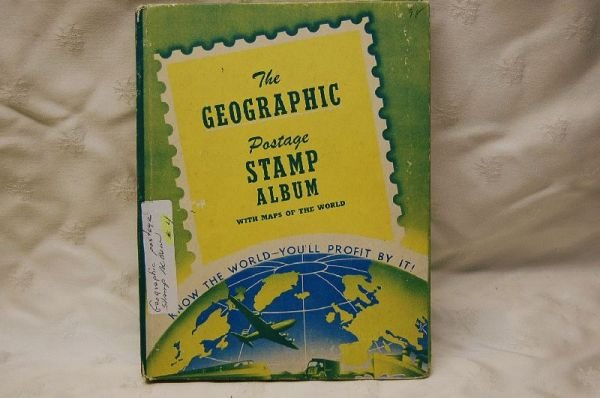 1013: GEOGRAPHIC POSTAGE STAMP ALBUM