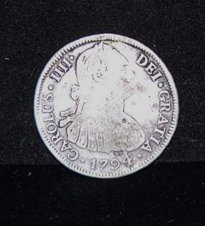 1016: 1794  CAROLUS IIII   4  REALES  COIN