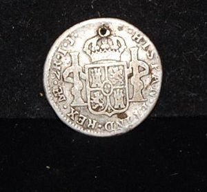 1018: 1800 CAROLUS III  2 REALES COIN - 2