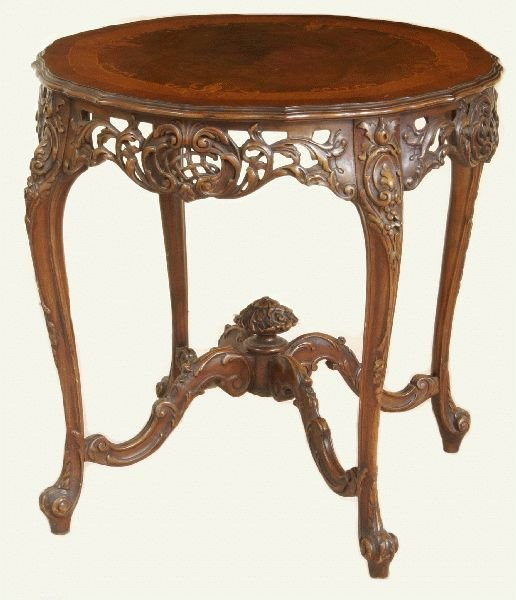 3002: FRENCH INLAID SALON TABLE