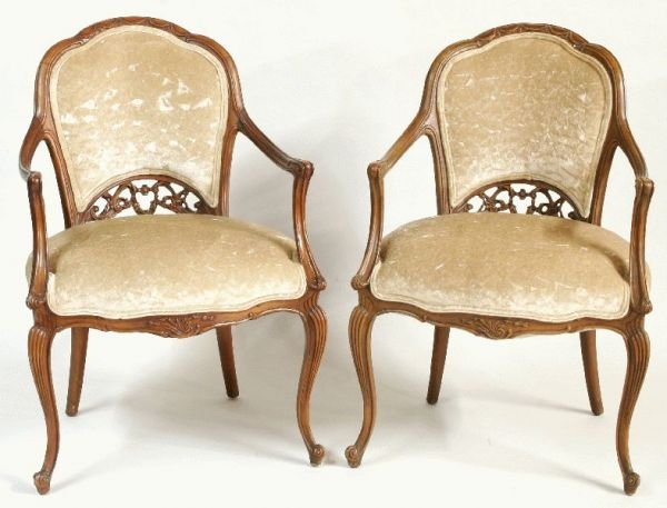 3008: PAIR OF OUTSTANDING FRENCH FIRESIDE CHAIRS