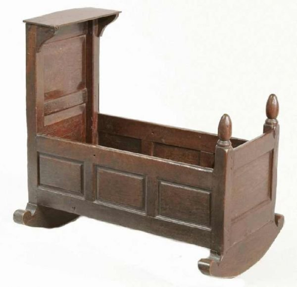 14: EARLY HAND-HEWN CRADLE
