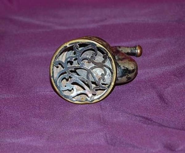 17: ANTIQUE EAR TRUMPET HEARING AID - BEEHIVE DESIGN - 3