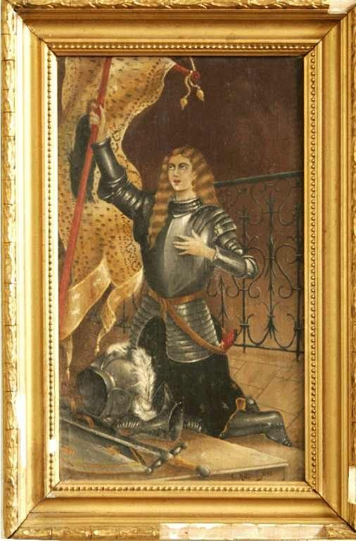 1115: RENDITION OF Jeanne d'Arc  ON CANVAS  E. ANDRE