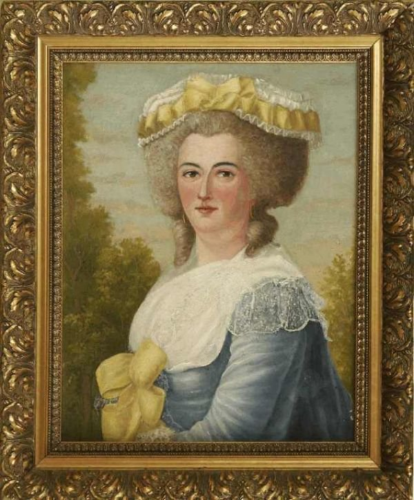 1125: OIL ON CANVAS MARIE ANTOINETTE  UNSIGNED