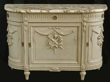 1152: FRENCH MARBLE TOP COMMODE