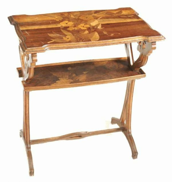 1126: FRENCH ART NOUVEAU TABLE by Emile Gale'
