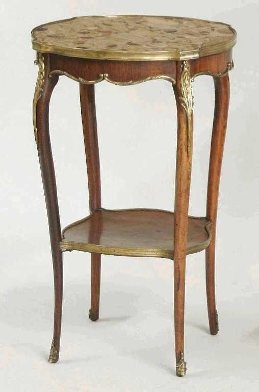 1122: LOUIS XVI  MARBLE TOP SIDE TABLE