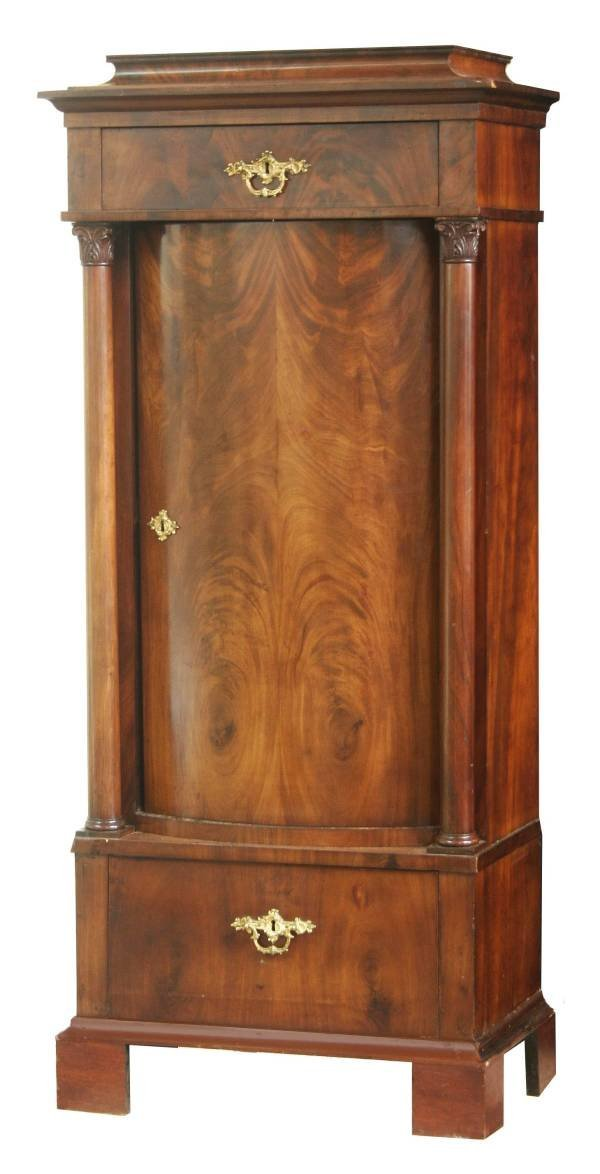 2010: BIEDERMIER MAHOGANY BOW FRONT CABINET