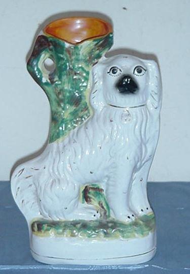 5: Unusual Staffordshire?  Dog Vase