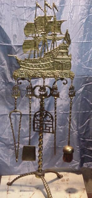 9: Nautical Fireplace Tool Set