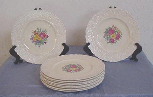 10: Set of 10 Royal Cauldon Dinner Plates